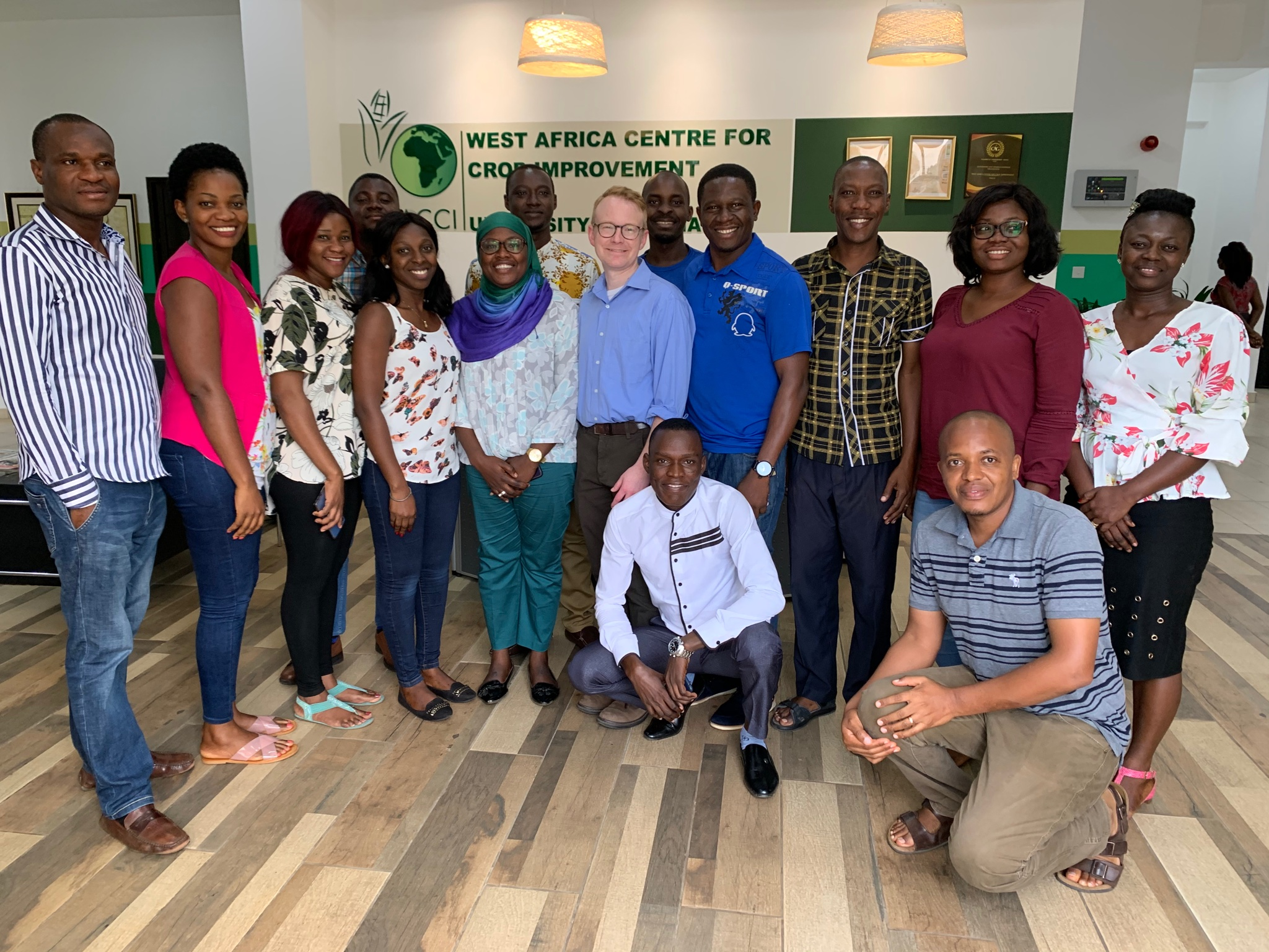 Dr. Willmann and some students of WACCI